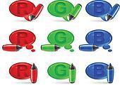 speech bubbles & marker