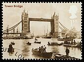 London Tower Bridge Postage Stamp