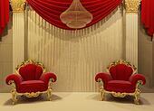 Baroque furniture in royal interior