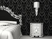 Baroque furniture in bedroom