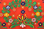 Hand-painted floral ornament
