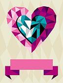 Origami Heart Love