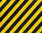 Yellow and black diagonal hazard stripes