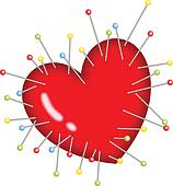 Voodoo Heart Pins Stick