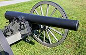 closeup of a gettysburg cannon