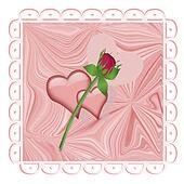 Rose and Hearts Design