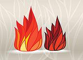 Stained glass style fire set