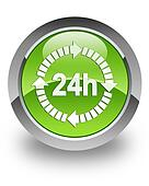 Delivery 24 hours glossy icon
