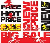 big sale, hot price, new, free