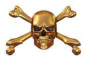 Golden Skull and Crossbones