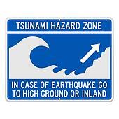 Tsunami Danger Sign