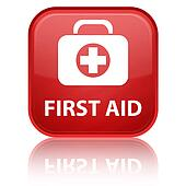 First aid glossy button