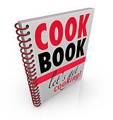 Cookbook Spiral Bound Cook Book Let's Get Cooking