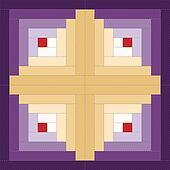 Quilt Block, Log Cabin Pattern