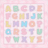 Alphabet Quilt, Pink Pastel