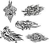 Flame tatoos