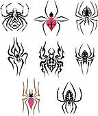 Stylized spiders