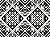 Seamless geometrical gothic floral vector pattern