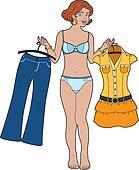 Choose between dress and pants