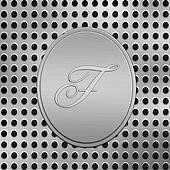 letter F silver metal