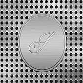 letter I silver metal