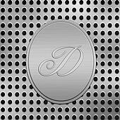 letter D silver metal