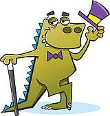Dinosaur with Top Hat