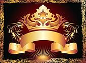 Luxurious copper ornament and crown