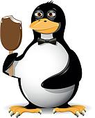 penguin and ice cream