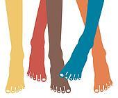 Healthy feet vector.