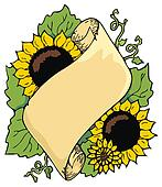 Sunflower scroll
