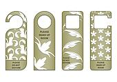 do not disturb sign with special design