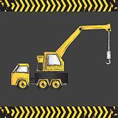 cartoon crane