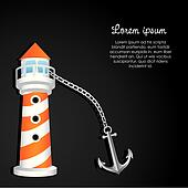 lighthouse with anchor