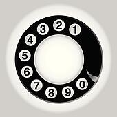 phone number in circle old telephon
