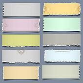Ten notes paper in pastel colors