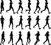 female marathon runners
