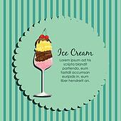 label of an ice cream