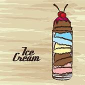 grunge edged ice cream