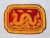 The 12 Thai zodiac painting on wall at wat phra thart Doi Suthep, chiang mai province, Thailand.