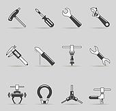 Single Color Icons - Bicycle Tools