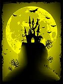 Spooky Halloween with copy space. EPS 8