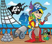 Pirate ship deck theme 9