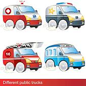 Different public trucks