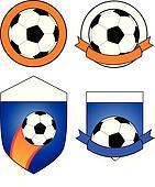 4 different soccer badges