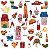 Artworks. Set of decorative element