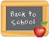 Back to School Blackboard, Apple