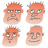 vector different facial expressions