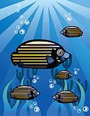 Strip Tropical Fish