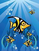 Black Yellow Fish Character Un